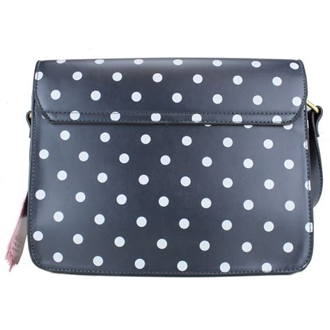 Fossil Satchel Navy Polkadot l1119d miss lulu medium satchel polka dot navy