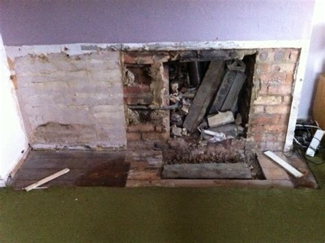 Fireplace Removal by Plastering After Fireplace Removal Gap In Floorboard