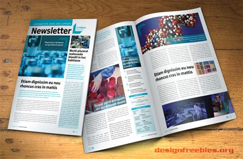 free indesign newsletter template 2 designfreebies