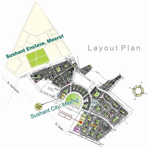 layout plan of ansal api lucknow 3600 sq ft plot for sale in ansal api sushant city meerut