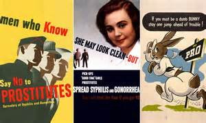 vintage collection  health adverts warning   dangers  stds daily mail
