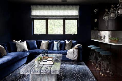 Blue Living Room Black Furniture Photo Page Hgtv