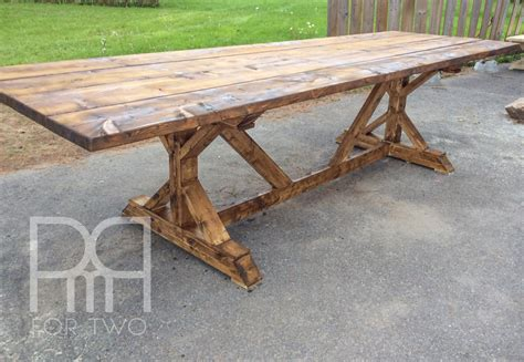 harvest table with bench harvest table diy pmq for two