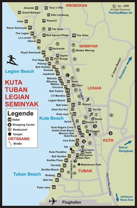 rabasta resort kuta map kuta accommodation hotels map places i d like to