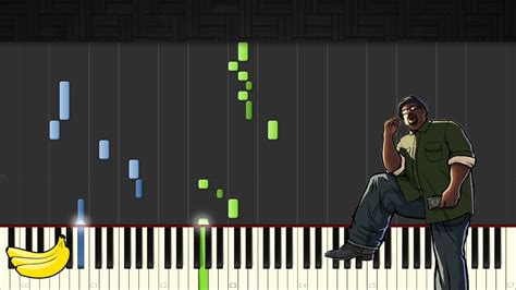 theme song gta san andreas gta san andreas theme song piano tutorial easy