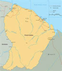 map of guiana cayenne