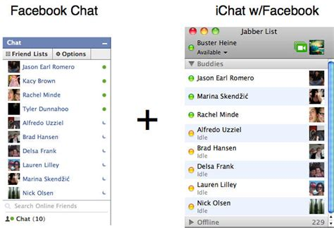 fb chat integrate facebook chat into ichat how to cult of mac