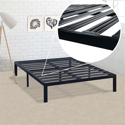 how wide is full size bed full size metal platform bed frame with 3 86 inch wide