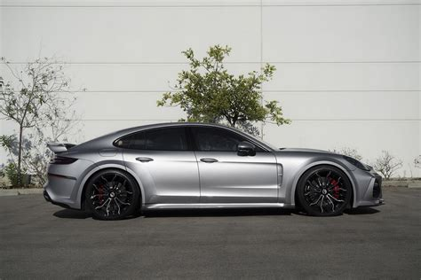 porsche forgiato porsche panamera wears techart widebody kit and