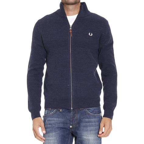 Sweater Fred Perry Lyst Fred Perry Sweater In Blue For