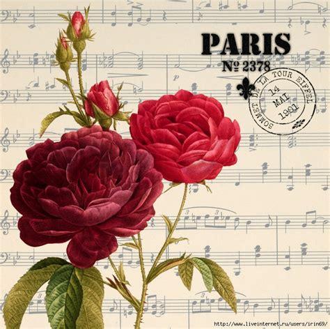 imagenes vintage rojas mi baul del decoupage collages con rosas