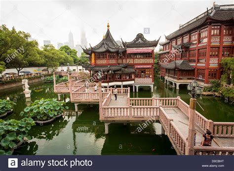 ancient chinese house picture yu yuan gardens shanghai view of the huxinting teahouse in yu yuan gardens shanghai