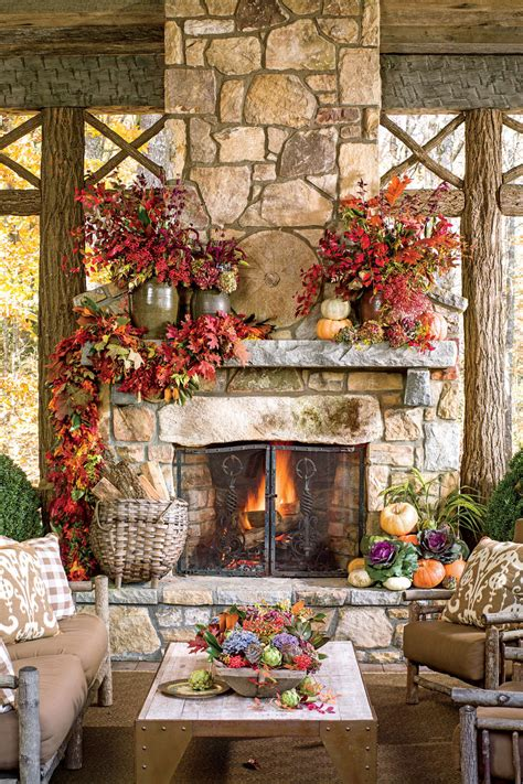 outdoor rooms and outdoor fireplaces fall s best outdoor fall fireplaces and mantels southern living