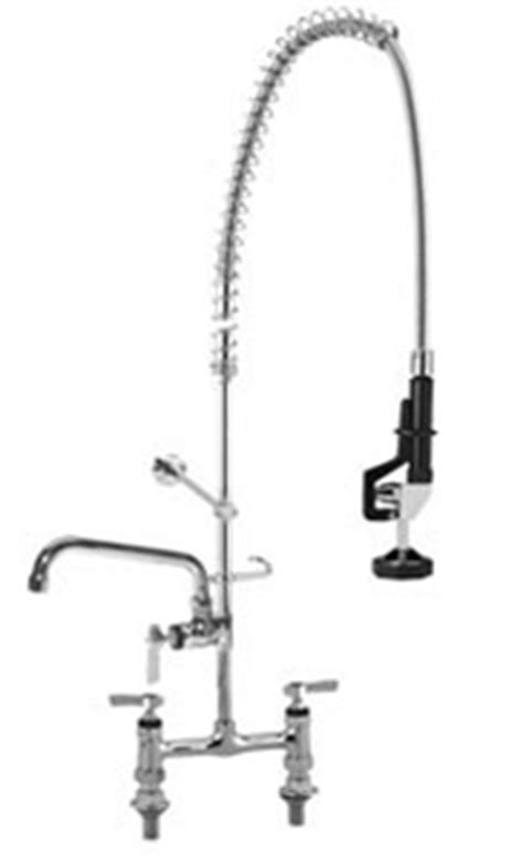 Saniguard Faucet Parts by Chg Encore 174 8 Inch Deck Mount Pre Rinse With Add On Faucet