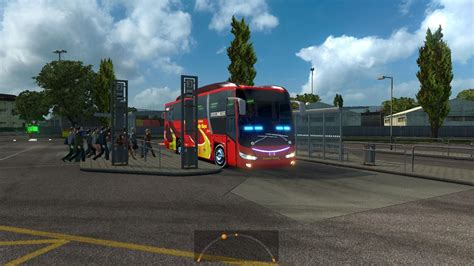 mod game ets 2 bus indonesia bus passenger transport and terminal mode v2 1 19 ets 2