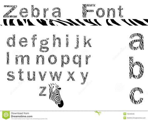 zebra pattern font zebra font royalty free stock photo image 12240345