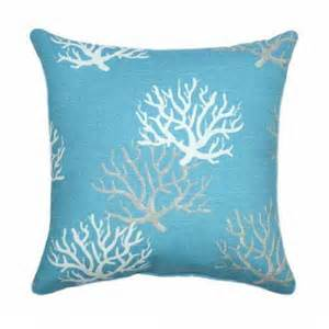 Blue And Throw Pillows Premier Prints Isadella Coral Coastal Blue Decorative