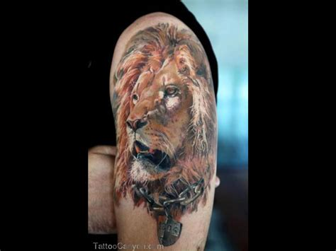 lion sleeve tattoo designs images designs