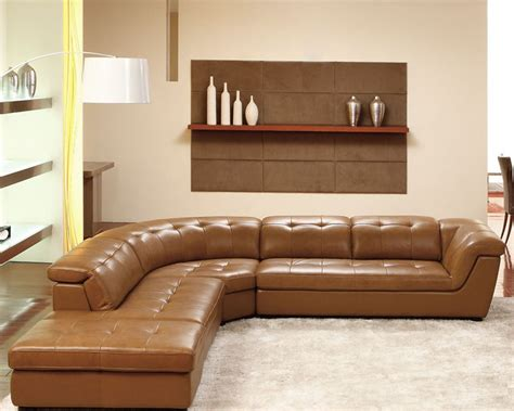 Contemporary Italian Leather Sectional Set Esf8095 Contemporary Italian Leather Sofas