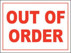 Bathroom Out Of Order Sign Out Of Order Sign By Safetysign R5337