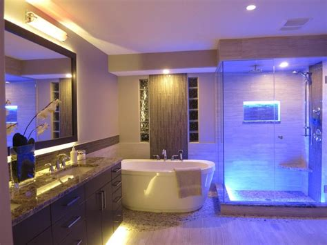 bathroom led lights 18 amazing led strip lighting ideas for your next project sirs e 174
