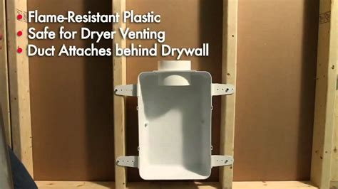dryer vent inside 2x4 wall dundas jafine features benefits recessed dryer vent
