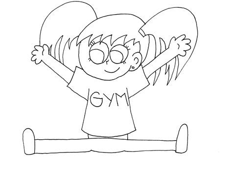 coloring pages for gymnastics free gymnastics coloring