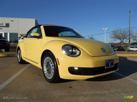 yellow volkswagen convertible 2013 yellow rush volkswagen beetle 2 5l convertible