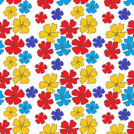 cute pattern fabric cute floral pattern fabric palusalu spoonflower