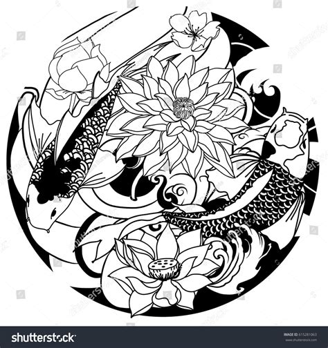 oriental circle tattoo stock vector hand pictures to pin on pinterest tattooskid
