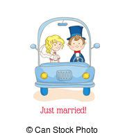 Just Married Auto Karte by Gerecht Auto Verheiratet Einladung Design Wedding