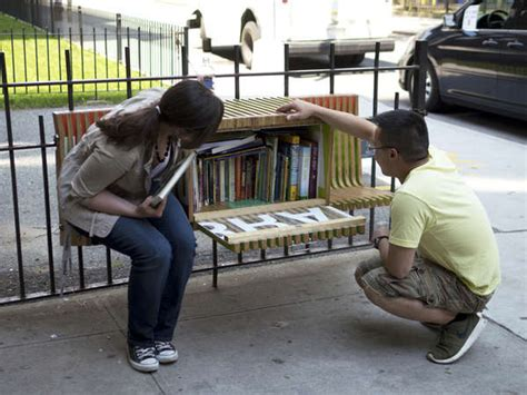 new yorker book bench book filled benches free libraries