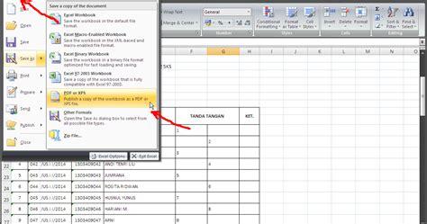 tutorial merubah pdf ke excel cara merubah file excel menjadi file pdf tutorial