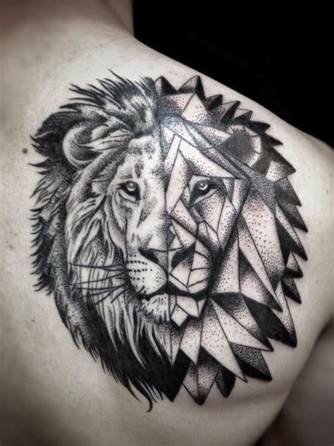 lion geometric tattoo geometric ideas tattoos