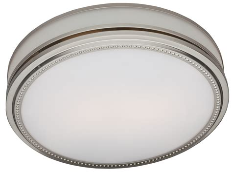 Riazzi Bathroom Fan With Light And Nightlight Brushed