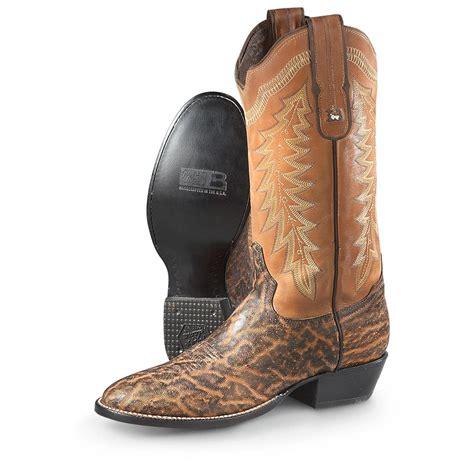 elephant boots tony lama roper elephant cowboy boots cognac peanut
