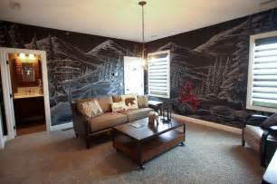 themed room ski lodge themed room rustic family room dublin by