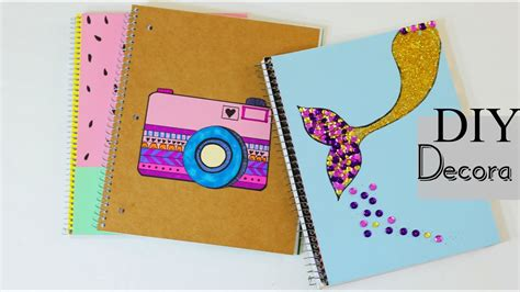 decorar cuadernos para diy 3 ideas para forra tus cuadernos decora tus