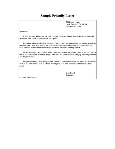 Kid Friendly Business Letter Format Letter Writing