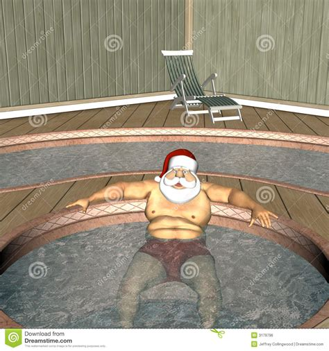 santa in the bathtub santa hot tub 1 royalty free stock image image 3179796