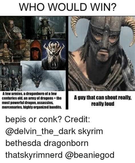 Dragonborn Meme - who would win afew armies a dragonborn or afew centuries