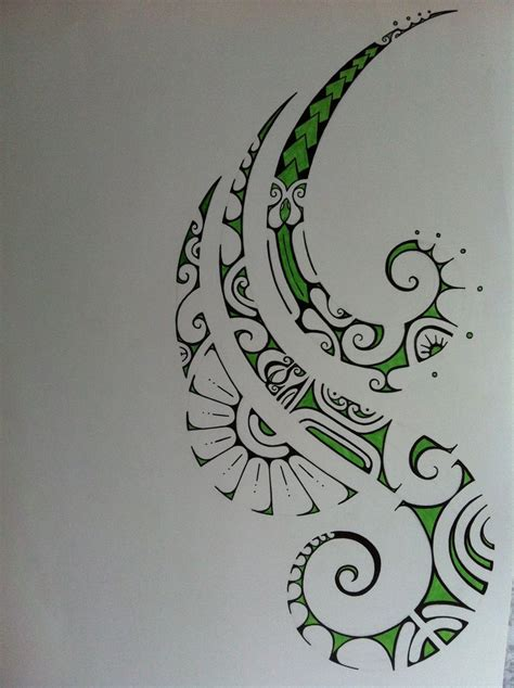 good maori tattoo designs green polynesian drawing drawings