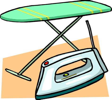 Iron Clipart ironing board and iron clip at clker vector clip royalty free domain