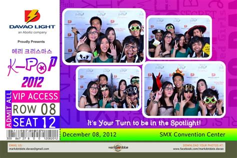 kpop theme christmas party fun snaps markdotdate photobooth davao