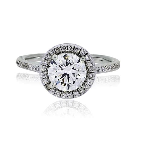 Micro Pave Engagement Rings by 18k White Gold Brilliant Micro Pave