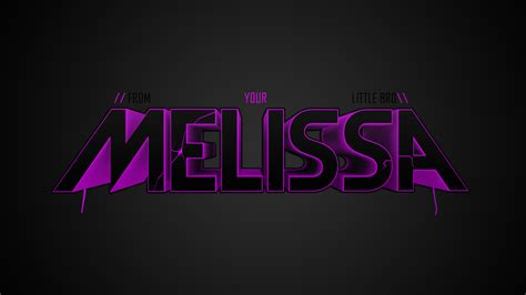 cool wallpaper with your name melissa name wallpaper melissa wallpaper by cookiegfx