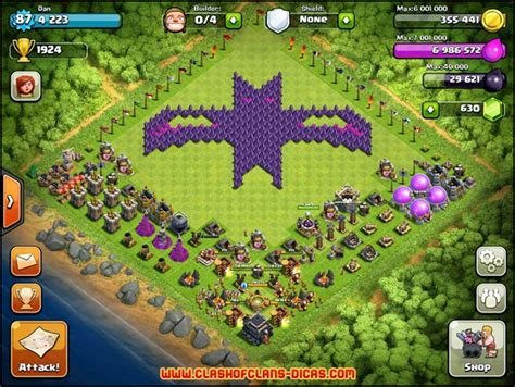 layout coc copy os layouts mais criativos e bizarros em clash of clans