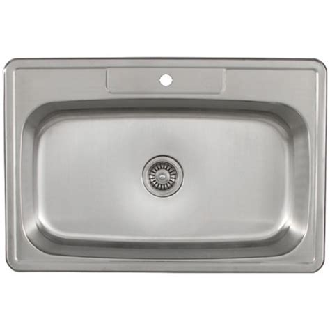 overmount kitchen sinks kitchen sinks overmount ruvati rvh8050 drop in overmount