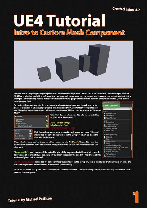 tutorial c ue4 ue4 tutorial custom mesh component 用于绘制自定义网格的插件