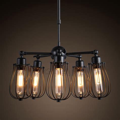 Primitive 5 light fan shaped industrial light fixtures